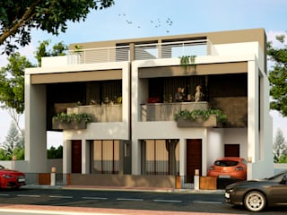 Row House at Indore Modern houses by agnihotri associates Modern