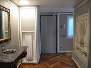 Couloir, entrée, escaliers originaux par ALDENA Éclectique