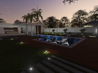 Projeto Residencial: Piscinas  por XAVIER + FRÓES ARQUITETURA