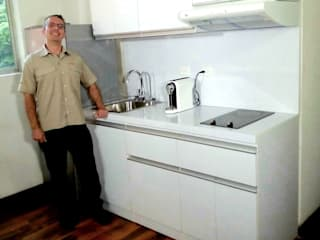 Grupo Creativo DF, C.A. Minimalist kitchen MDF White