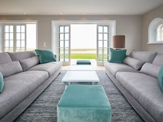 SALLIER WOHNEN SYLT 现代客厅設計點子、靈感 & 圖片 實木 Turquoise