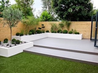 Small, low maintenance garden Yorkshire Gardens Jardin minimaliste Bois composite