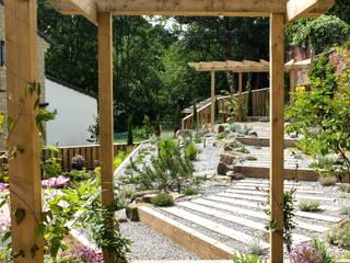 Modern Garden with a rustic twist Yorkshire Gardens Modern style gardens