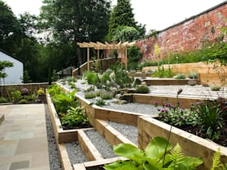 Modern Garden with a rustic twist by Yorkshire Gardens Сучасний