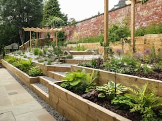 Jardin de style  par Yorkshire Gardens
