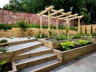 Modern Garden with a rustic twist Jardins modernos por Yorkshire Gardens Moderno