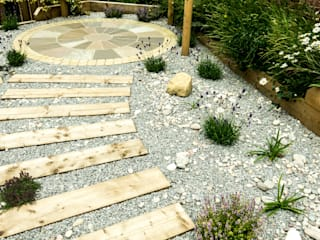 Modern Garden with a rustic twist Yorkshire Gardens 庭院