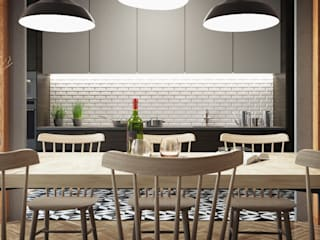 Vítor Leal Barros Architecture Sala da pranzo moderna