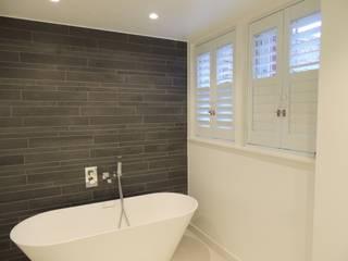 Rhino Shutters - security plantation shutters in London WiSER Modern bathroom White