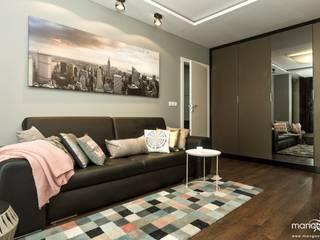 BAJECZNA PRZYSTAŃ - mieszkanie 48 m2 - styl nowoczesny Nowoczesny salon od MANGO STUDIO Nowoczesny