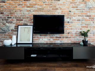 BAJECZNA PRZYSTAŃ - mieszkanie 48 m2 - styl nowoczesny Nowoczesne ściany i podłogi od MANGO STUDIO Nowoczesny