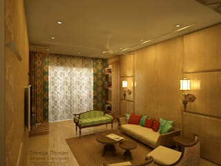 Salas de estilo moderno de Shreya Bhimani Designs Moderno