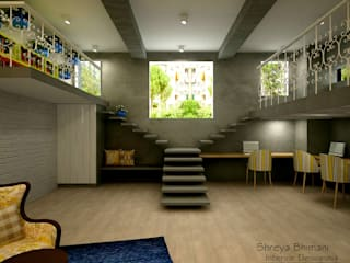 Staircase Shreya Bhimani Designs Modern Corridor, Hallway and Staircase
