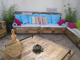 salon de jardin fait sur mesure par amour de palette création Éclectique Bois Effet bois