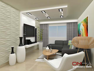 Salas de estilo moderno por om-a arquitectura y diseño