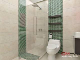 Diseño interior en apartamento, espacio baño secundario: Baños de estilo moderno por om-a arquitectura y diseño