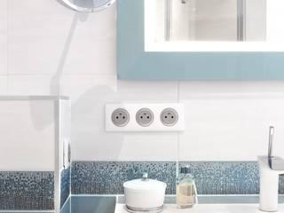 Détail matériaux: Salle de bains de style  par Carnets Libellule
