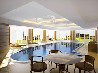Piscinas modernas por Design studio of Stanislav Orekhov. ARCHITECTURE / INTERIOR DESIGN / VISUALIZATION. Moderno