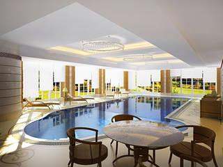 Modern Pool by Design studio of Stanislav Orekhov. ARCHITECTURE / INTERIOR DESIGN / VISUALIZATION. Modern