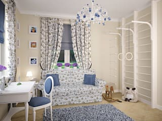 Quarto infantil clássico por Design studio of Stanislav Orekhov. ARCHITECTURE / INTERIOR DESIGN / VISUALIZATION. Clássico