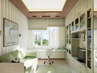 Quarto infantil moderno por Design studio of Stanislav Orekhov. ARCHITECTURE / INTERIOR DESIGN / VISUALIZATION. Moderno