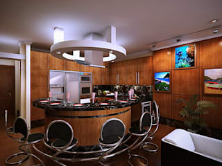Cozinhas modernas por Design studio of Stanislav Orekhov. ARCHITECTURE / INTERIOR DESIGN / VISUALIZATION. Moderno