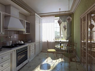 Classic style kitchen by Design studio of Stanislav Orekhov. ARCHITECTURE / INTERIOR DESIGN / VISUALIZATION. Classic