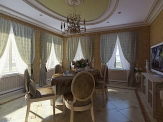 Classic style dining room by Design studio of Stanislav Orekhov. ARCHITECTURE / INTERIOR DESIGN / VISUALIZATION. Classic