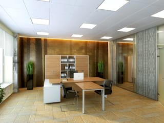 Modern office buildings by Design studio of Stanislav Orekhov. ARCHITECTURE / INTERIOR DESIGN / VISUALIZATION. Modern
