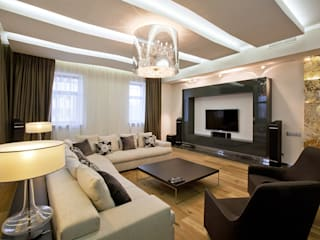 Design studio of Stanislav Orekhov. ARCHITECTURE / INTERIOR DESIGN / VISUALIZATION. Moderne Wohnzimmer
