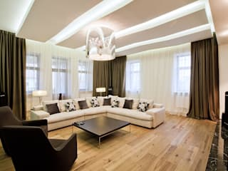 Salon moderne par Design studio of Stanislav Orekhov. ARCHITECTURE / INTERIOR DESIGN / VISUALIZATION. Moderne