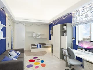 Design studio of Stanislav Orekhov. ARCHITECTURE / INTERIOR DESIGN / VISUALIZATION. Quarto infantil moderno