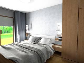 sypialnia Skandynawska sypialnia od Stylownia Wnętrz Skandynawski