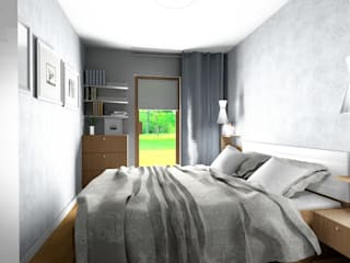 Habitaciones de estilo escandinavo de Stylownia Wnętrz Escandinavo