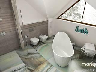 NOWOCZESNY DOM k/Krakowa Nowoczesna łazienka od MANGO STUDIO Nowoczesny