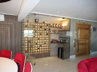 Metamorfose Arquitetura e Urbanismo Modern Home Wine Cellar Wood