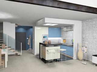 kuchnia w lofcie: styl , w kategorii Kuchnia zaprojektowany przez BB Projekt