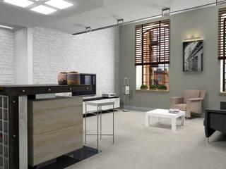 kuchnia otwarta na pokój dzienny: styl , w kategorii Kuchnia zaprojektowany przez BB Projekt