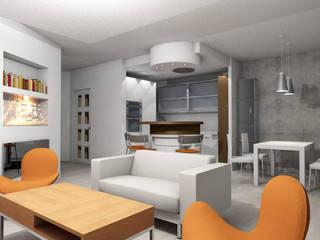 mieszkanie nowoczesne: styl , w kategorii Kuchnia zaprojektowany przez BB Projekt