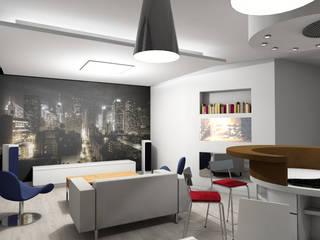 mieszkanie nowoczesne: styl , w kategorii Salon zaprojektowany przez BB Projekt