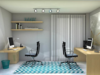 Oficina en casa Estudios y despachos de estilo moderno de INAR studio Moderno