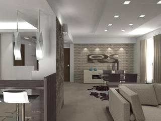 Salones de estilo moderno de Cristiano Rossi Interior Designer Moderno