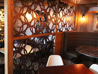 Laser cut screens - Soho Coffee Shop Modern gastronomy by miles and lincoln Modern