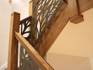 Laser cut screens - Balustrade infill - Frond design Modern corridor, hallway & stairs by miles and lincoln Modern