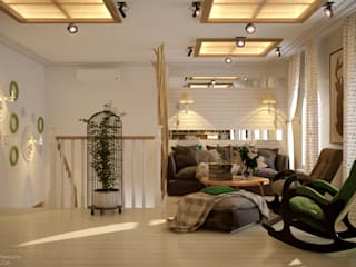 Country style living room by Студия интерьерного дизайна happy.design Country