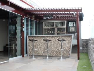 Terrazas de estilo  de Soluciones Técnicas y de Arquitectura , Moderno Piedra