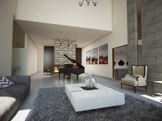 Salon moderne par ERIKA LIN Moderne
