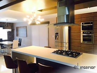 el interior Modern Kitchen Wood White
