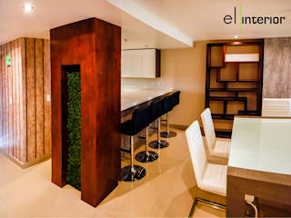 el interior Modern Dining Room Wood White