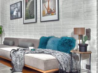 现代客厅設計點子、靈感 & 圖片 根據 JOANNA KIRYŁOWICZ 現代風